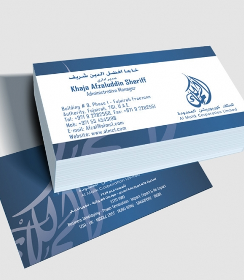 AL MALIK CORPORATION LIMITED Business Card Design