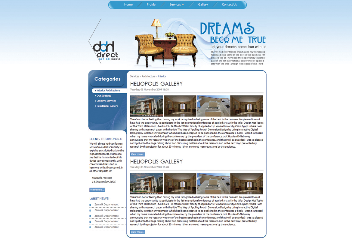 Direct DH Website Design