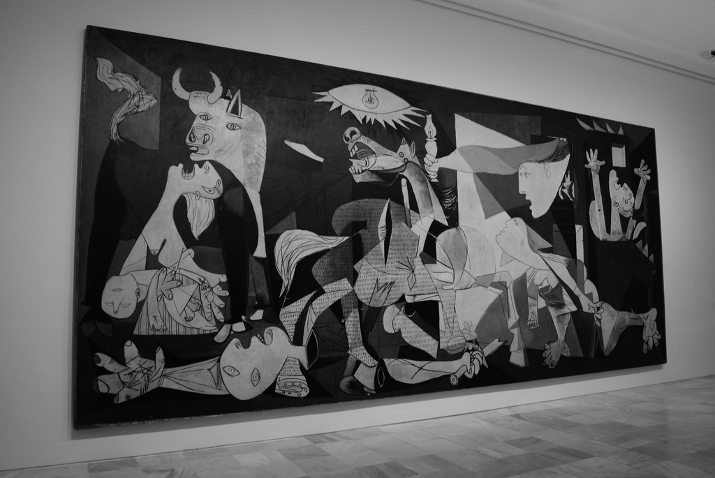 Mahmoud nasr pablo picasso life and thoughts mahmoud for Mural guernica