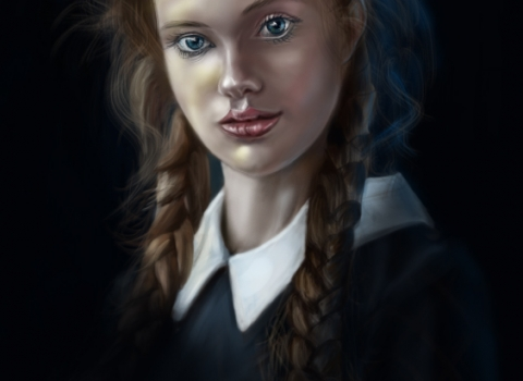Digital Portrait girl